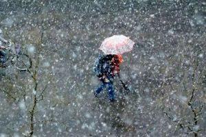 Oblačno sa snijegom
