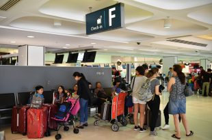 Overseas arrivals and departures at Sydney's International Airport