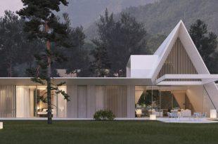 Bela planinska kuća 665