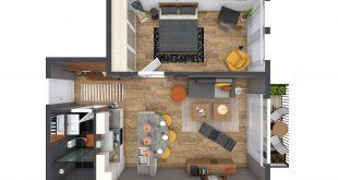 5 planova malih stanova 665